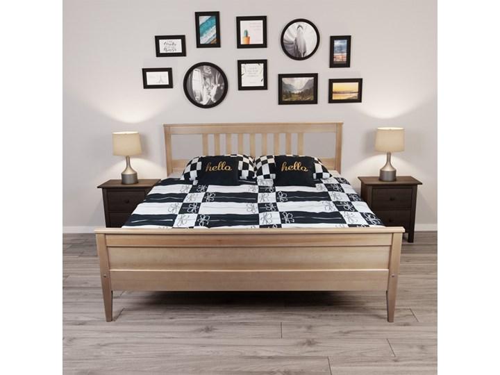 Łóżko Porto Drewniane Pojemnik na pościel Bez pojemnika Łóżko drewniane Kolor Biały