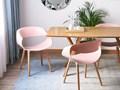 Zestaw do jadalni 2 krzesła różowe CHARLOTTE