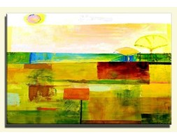 Obrazy abstrakcyjne do salonu - Wakacje - 60x90 cm - G15917