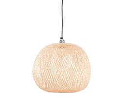 Ay illuminate Plum Ø34 cm - mała, ażurowa lampa wisząca z bambusa w kolorze naturalnym