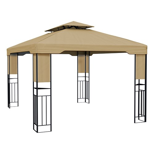 Pawilon ogrodowy Deluxe, 3x4 m, Beżowy