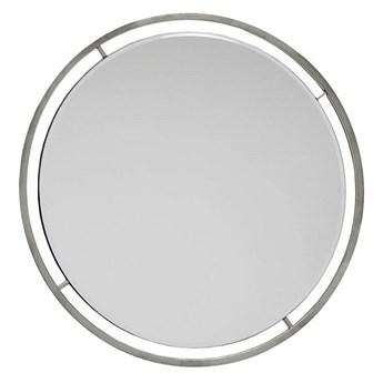 Lustro okrągłe , srebrne  CLEO GLAMUR