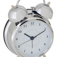Budzik Nextime Wake Up 12 cm silver   sprawdź rabaty i warunki bezpłatnej dostawy