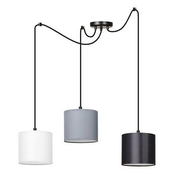 MANGO 3 BL MIX lampa wisząca abażury kolory regulowana wysokość LED