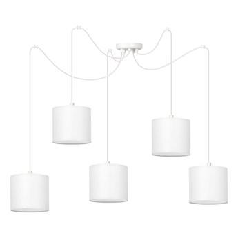 MANGO 5 WH WHITE lampa wisząca abażury kolory regulowana wysokość LED