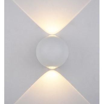 CARSOLI lampa ścienna zewnętrzna 2 x 4W  kinkiet  punktowa elewacyjna nowoczesna biała ITALUX PL-308W