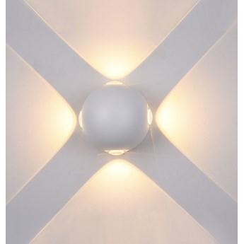 CARSOLI lampa ścienna zewnętrzna 4 x 4W kinkiet punktowa elewacyjna nowoczesna biała ITALUX PL-307W
