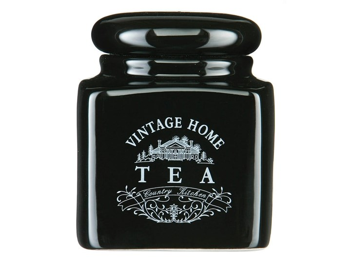 Czarny pojemnik na herbatę z ceramiki Premier Housewares Vintage Home Ceramika Typ Pojemniki
