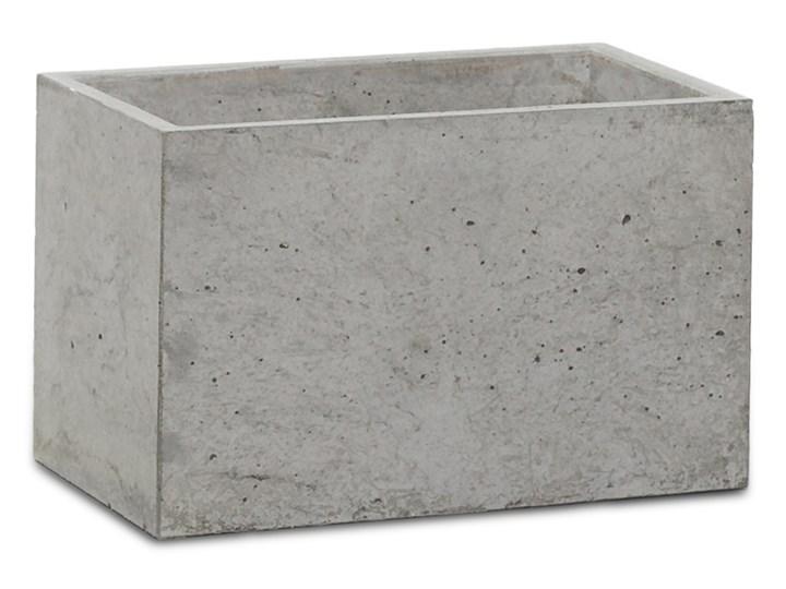 Donica betonowa S 24x14x15 szary naturalny Donica ogrodowa
