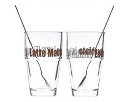 Zestaw szklanka + łyżeczka do Latte x2 Leonardo Solo L-042555 + Transport juz od 8,90 zł