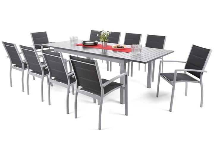 Zestaw ogrodowy stół + 10 krzeseł Vesa srebrny Aluminium Stoły z krzesłami Aluminium Zawartość zestawu Ze stołem