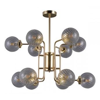 BARTOLO żyrandol 12 x 5W E14 lampa wisząca elegancka ozdobna kule złota ITALUX PNPL-43310-12