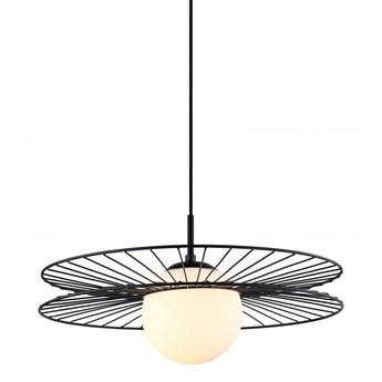 SANDY lampa wisząca 1 x 40W E27 szklana kula druciana zwis pojedynczy nowoczesna ITALUX MDM-4002/1 BK