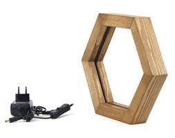 Drewniana lampa stołowa Honeybee