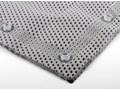Antypoślizgowa mata do kąpieli, kolor biały, kwadratowa, wymiar 52 x 52 cm, dywanik przy wannie lub brodziku