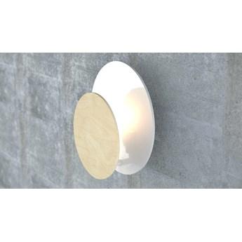 CIRCLE 790 WHITE kinkiet ścienny LED biały styl skandynawski drewno metal