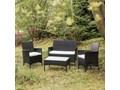 Zestaw mebli ogrodowych ze sztucznego rattanu Le Bonom Fila Zawartość zestawu Sofa Zestawy wypoczynkowe Kolor Biały