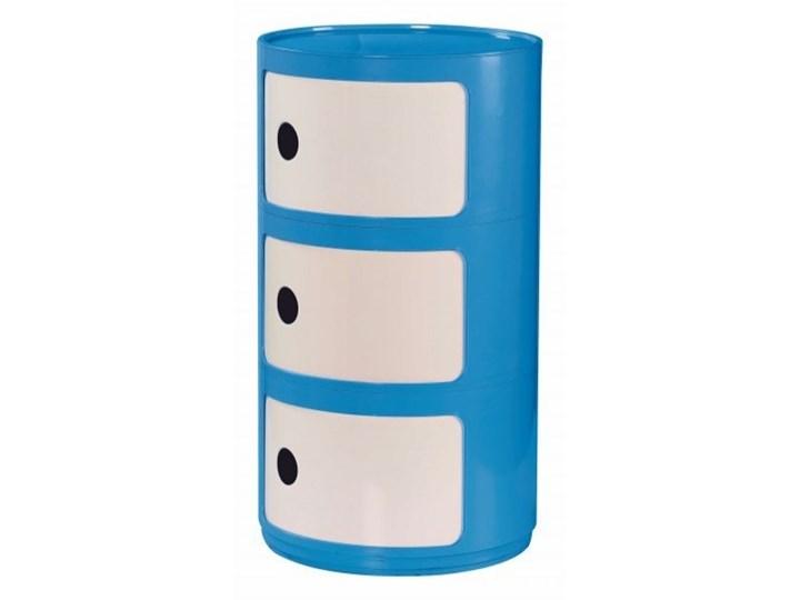 ALF kontenerek niebiesko-biały Wysokość 61 cm Głębokość 34 cm