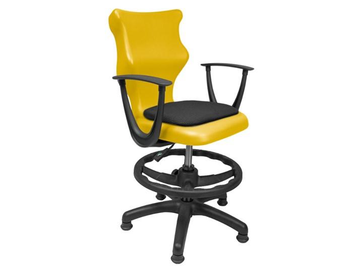 Krzesło do pracowni szkolnych z podłokietnikami i podnóżkiem Twist Soft Krzesło biurowe