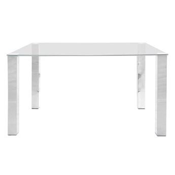 Prostokątny stół ze szklanym blatem Kosti 140