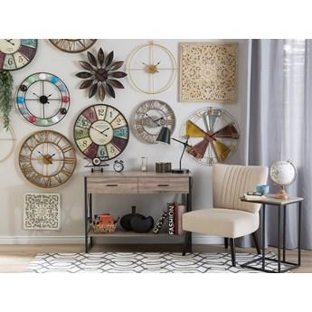 Zegar ścienny złoty żelazny bez cyfr Ø 50 cm nowoczesny minimalistyczny design