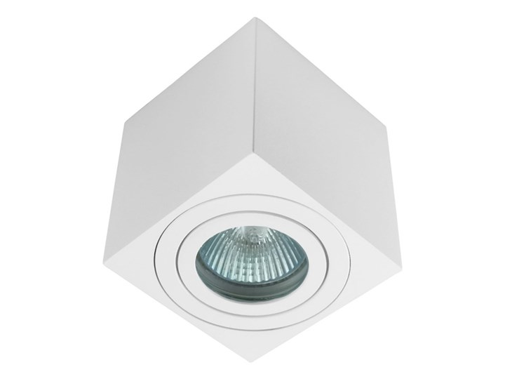 Oprawa natynkowa kostka alumininiowa biała HDL 201 WH hermetyczna Kolor Biały Oprawa stropowa Kwadratowe Oprawa halogenowa Kategoria Oprawy oświetleniowe