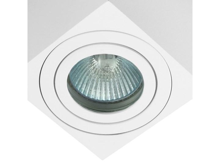 Oprawa natynkowa kostka alumininiowa biała HDL 201 WH hermetyczna Kwadratowe Oprawa halogenowa Oprawa stropowa Kolor Biały