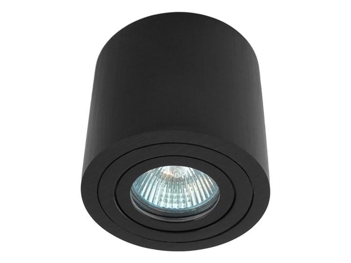 Sufitowa oprawa natynkowa, okrągła, tuba, czarna hermetyczna HDL202 BK czarna Oprawa stropowa Okrągłe Oprawa halogenowa Kolor Czarny
