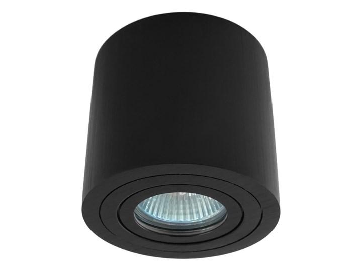 Sufitowa oprawa natynkowa, okrągła, tuba, czarna hermetyczna HDL202 BK czarna Oprawa halogenowa Okrągłe Oprawa stropowa Kolor Czarny