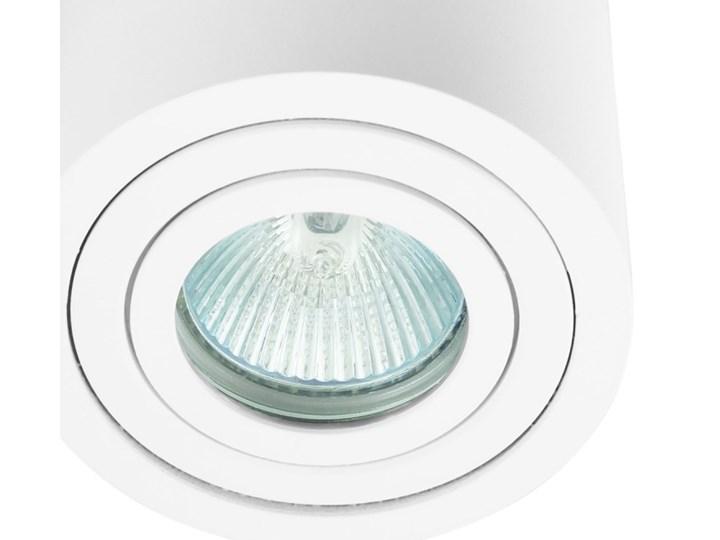 Sufitowa oprawa natynkowa, okrągła, tuba, biała hermetyczna HDL202 WH biała Oprawa halogenowa Kolor Biały Okrągłe Oprawa stropowa Kategoria Oprawy oświetleniowe