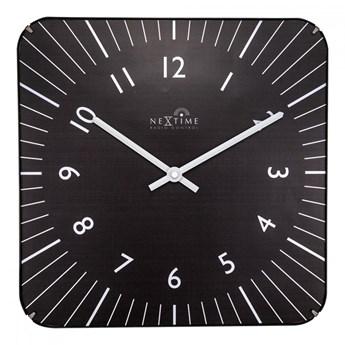 Zegar ścienny 35x35 cm Nextime Alex RC czarny kod: 3240 ZW