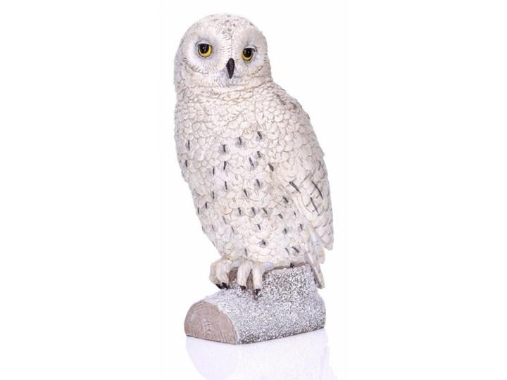 Figurka sowa 15x12x27cm Miloo Home biała kod: ML6343 Tworzywo sztuczne Ptaki Drewno Kategoria Figury i rzeźby