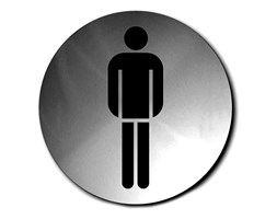 Szyld do WC męskiej okrągły Blomus Signo kod: B68141