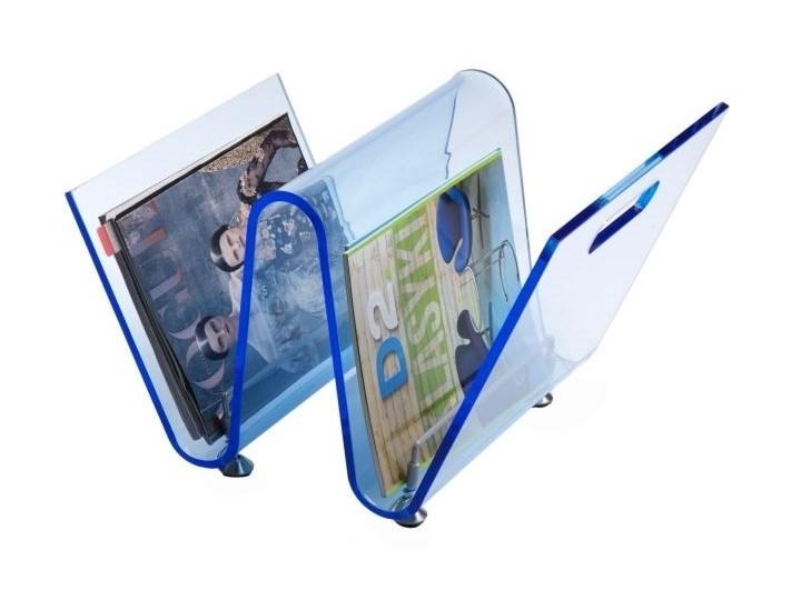Gazetnik OS jasno niebieski Tworzywo sztuczne Tworzywo sztuczne