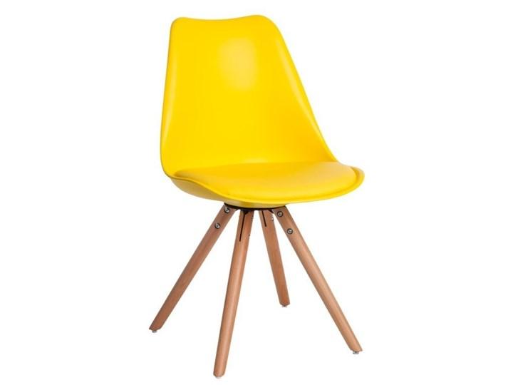 Krzesło Norden Star PP żółte 1610 Tworzywo sztuczne Drewno Skóra naturalna Skóra Drewno Skóra Drewno Tworzywo sztuczne Tworzywo sztuczne Styl Nowoczesny