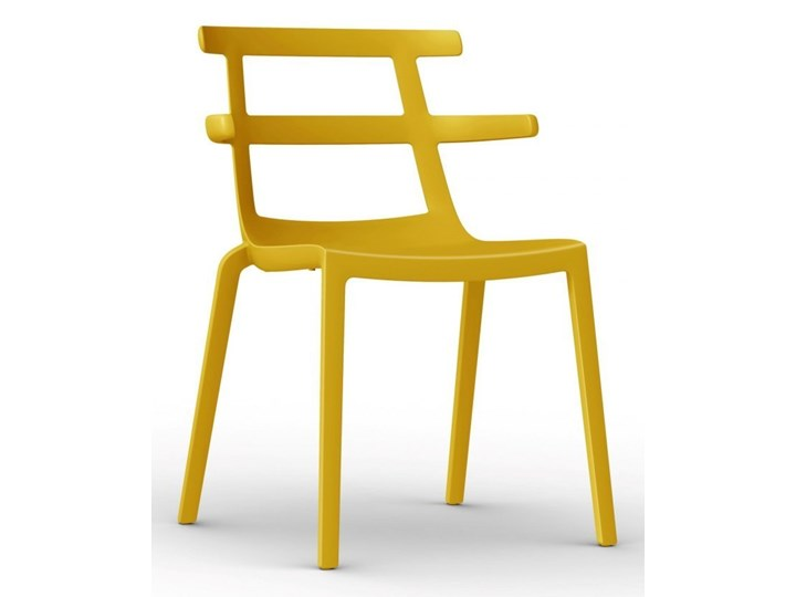Krzesło Tokyo żółte Tworzywo sztuczne Tworzywo sztuczne Krzesło biurowe Tworzywo sztuczne