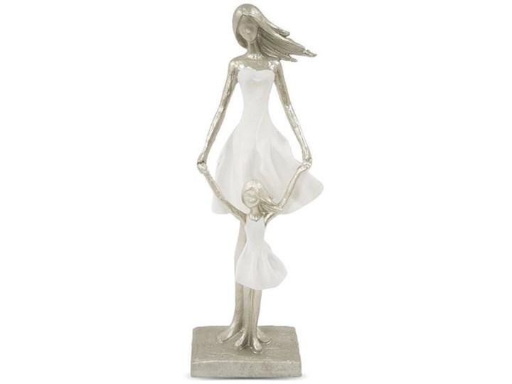 MATKA Z CÓRKĄ figurka biały / srebrny, wys. 33 cm