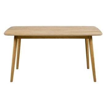 Fornirowany stół nierozkładany do jadalni w naturalnym kolorze Lewis 150