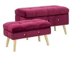 Komplet ławki i podnóżka ze schowkiem w bordowej barwie Mauro Ferretti Blam