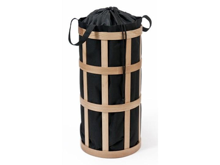 Kosz na pranie z czarnym workiem Wireworks Cage Drewno