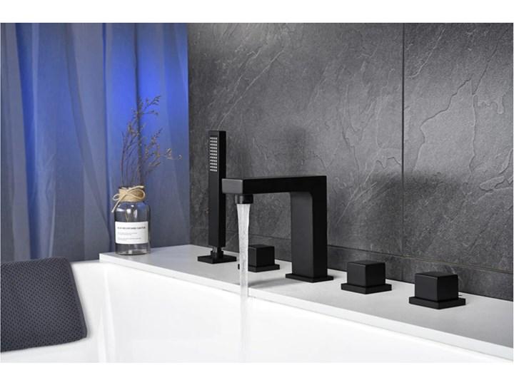 BATERIA ŁAZIENKOWA ,WANNOWA , OIL  RUBBED  MAT Bateria wannowa Bateria stojąca Kategoria Baterie łazienkowe Kolor Czarny