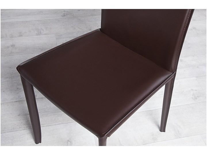 Krzesło milano brązowe skóra 11564