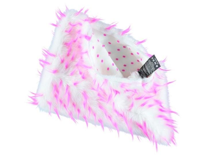 Poduszka dekoracyjna z futra JEŻYK 40x50 cm Futro ekologiczne Prostokątne Poszewka dekoracyjna Kolor Biały