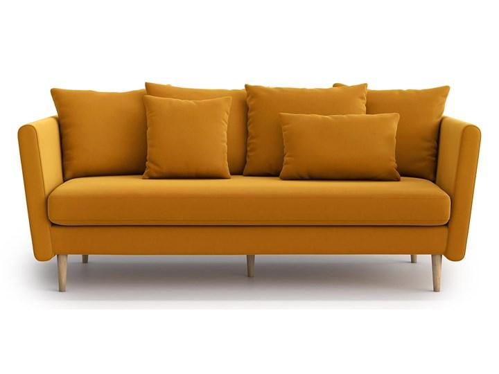 Sofa 3-osobowa Joleen, Golden Velvet Stała konstrukcja Głębokość 88 cm Kategoria Sofy i kanapy