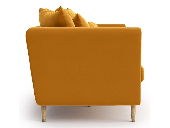 Sofa 3-osobowa Joleen, Golden Velvet Stała konstrukcja Głębokość 88 cm Typ Gładkie