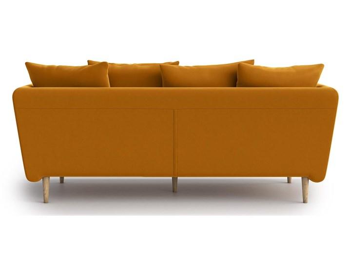 Sofa 3-osobowa Joleen, Golden Velvet Głębokość 88 cm Rozkładanie Stała konstrukcja Nóżki Na nóżkach