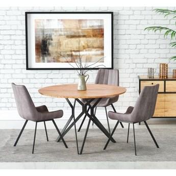 Okrągły stół do jadalni na metalowych nogach Pixel 2