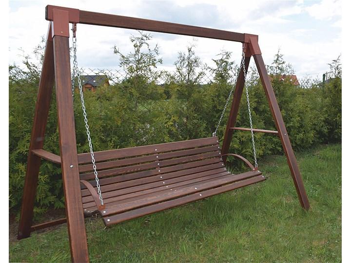 Drewniana huśtawka ogrodowa Magis 3X - 180 cm Kolor Brązowy