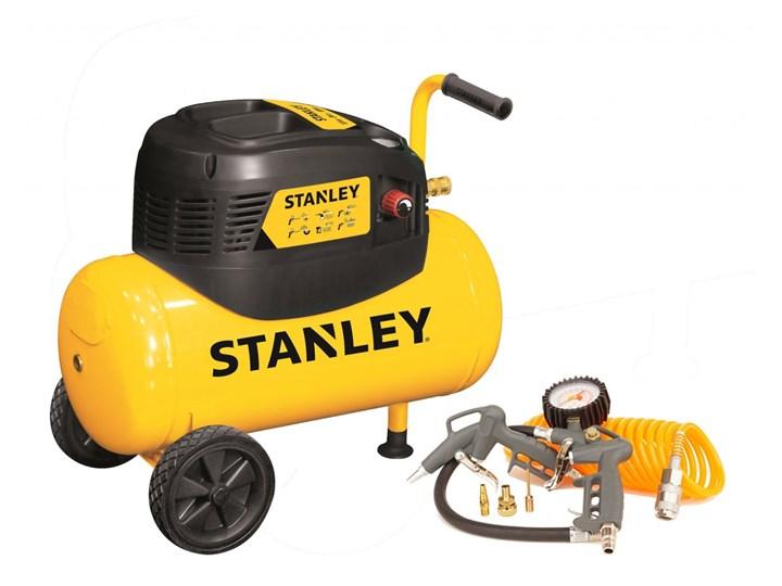 Kompresor bezolejowy Stanley, zbiornik 24L + kpl  pneumatyczny ARAK6