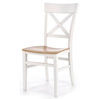 Krzesło drewniane Toran - białe